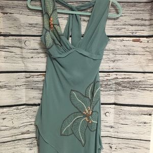 BCBG MaxAzria halter dress. Green. Size: 6